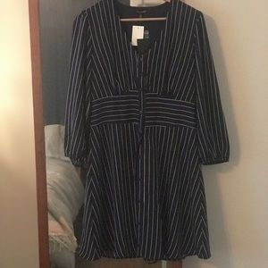 Pinstripe navy dress